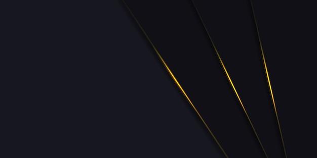 Fondo grigio scuro astratto con la linea di luce gialla su spazio.