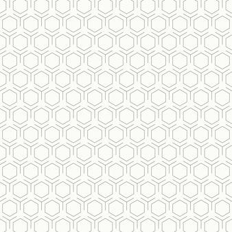 Fondo in bianco e nero d'annata astratto di progettazione del modello di esagono.