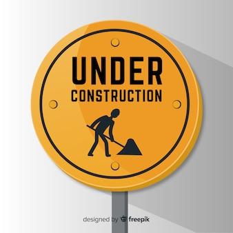 Fondo in costruzione piano del segno