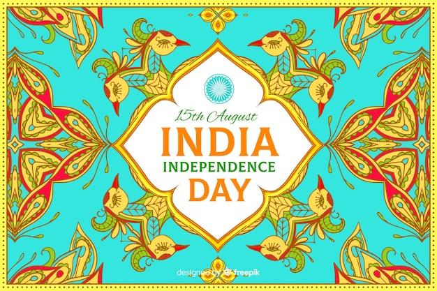 Fondo indiano decorativo di festa dell'indipendenza