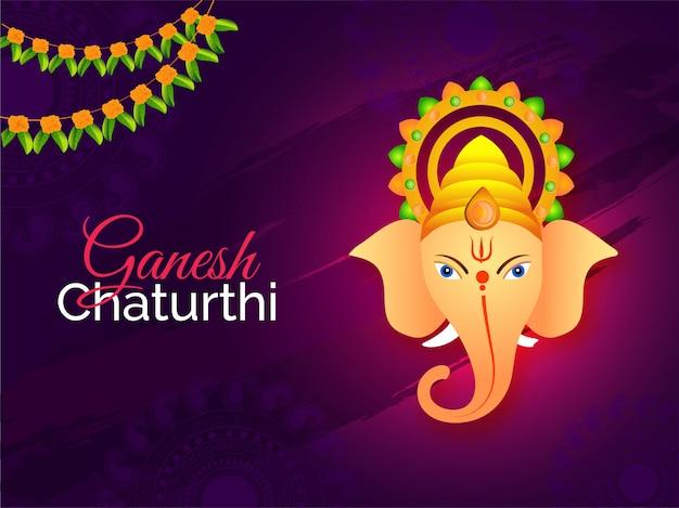 Fondo indiano di ganesh chaturthi di festival.