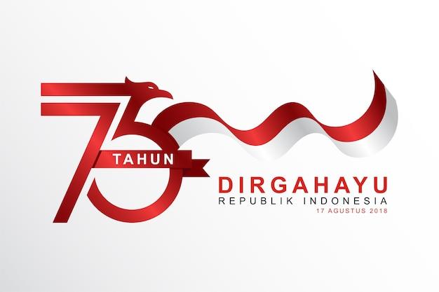 Fondo indonesiano di festa dell'indipendenza