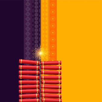 Fondo indù del cracker di festival di diwali