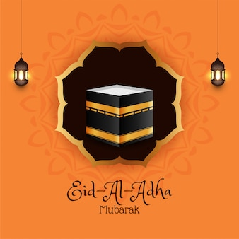 Fondo islamico religioso di eid-al-adha mubarak