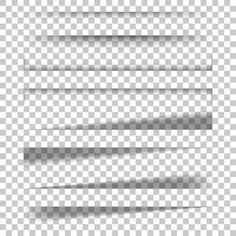Fondo isolato effetto di ombra dello strato di carta