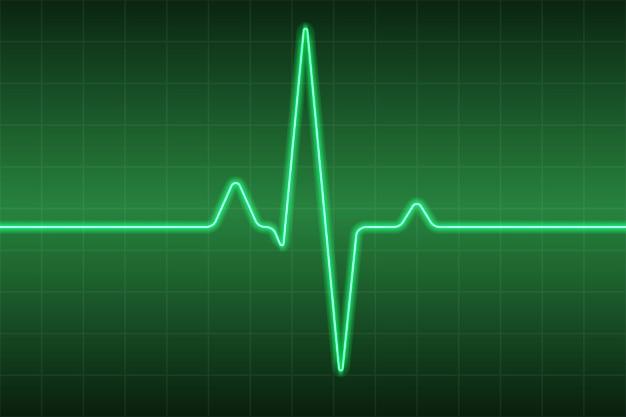 Fondo medico di sanità con impulso del cuore di ecg