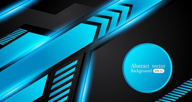 Fondo metallico astratto della disposizione di concetto dell'innovazione di progettazione della struttura del nero blu