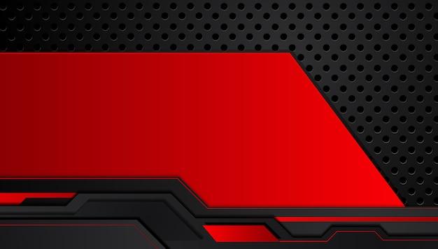 Fondo metallico nero astratto di concetto dell'innovazione di tecnologia di progettazione della disposizione della struttura del nero