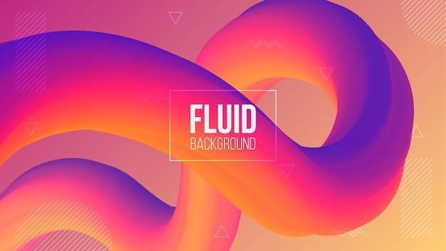 Fondo moderno astratto con forma fluida 3d