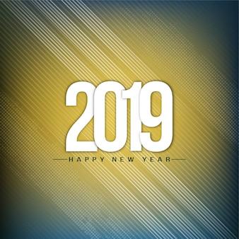 Fondo moderno decorativo del buon anno 2019