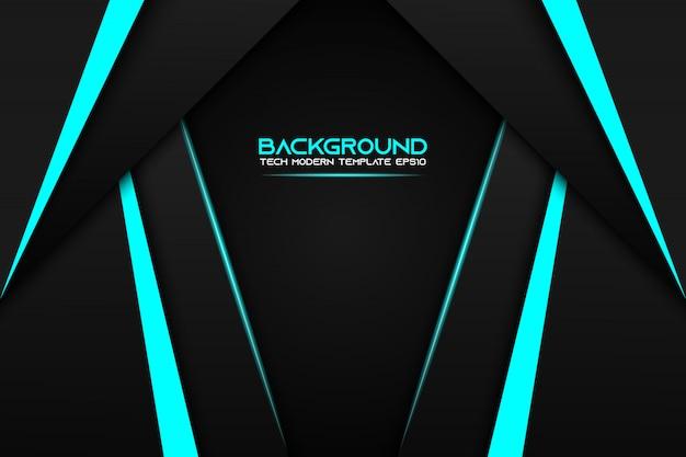 Fondo moderno del modello di progettazione di tecnologia della disposizione nera metallica blu astratta del blocco per grafici