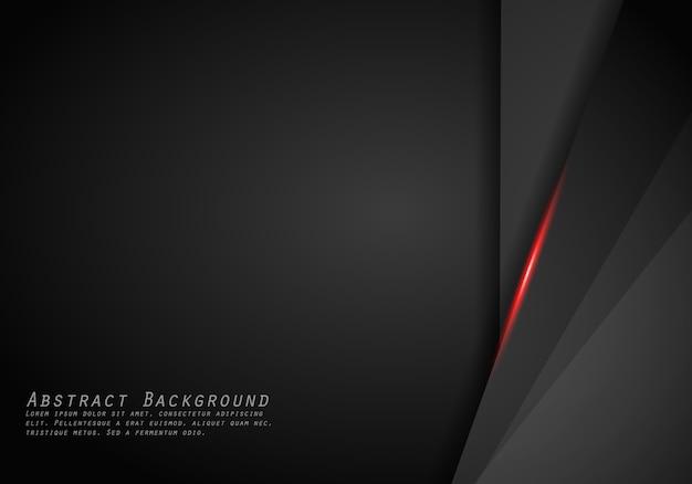 Fondo moderno del modello di progettazione di tecnologia della disposizione nera rossa metallica astratta della struttura