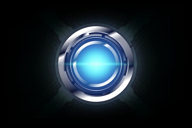 Fondo moderno di concetto di sport di tecnologia del modello astratto del cerchio ciao