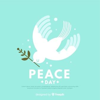 Fondo moderno di giorno di pace con la colomba bianca