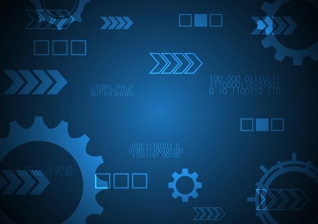Fondo moderno futuro astratto dell'attrezzatura di tecnologia