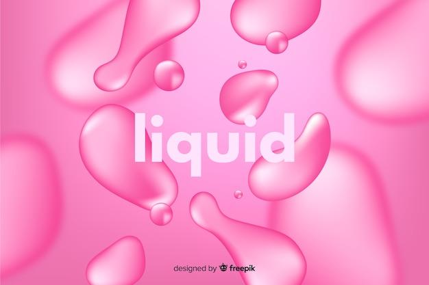 Fondo monocromatico realistico effetto liquido