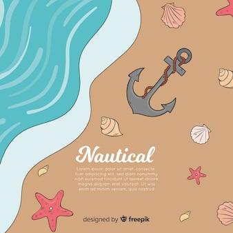 Fondo nautico della riva della spiaggia
