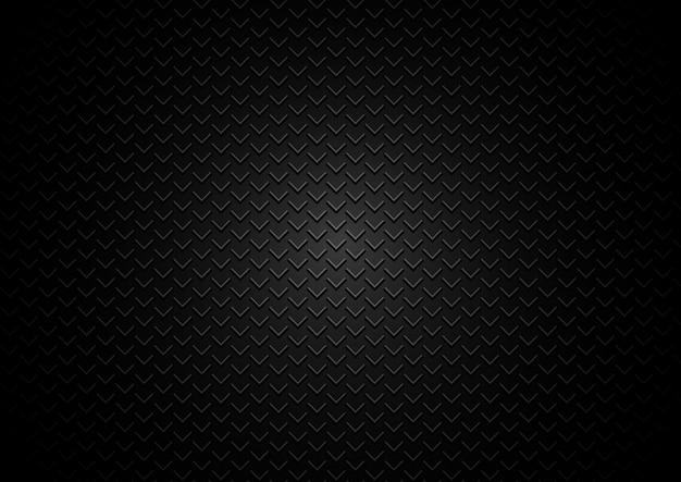 Fondo nero dei triangoli astratti della griglia del metallo