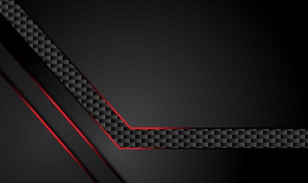 Fondo nero rosso metallico astratto di concetto dell'innovazione di tecnologia di progettazione.