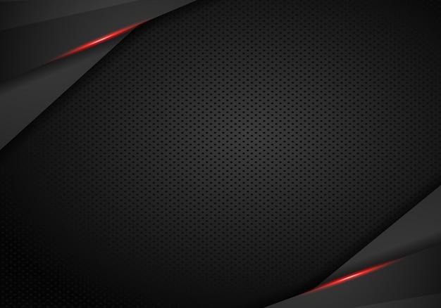 Fondo nero rosso metallico moderno astratto della disposizione di concetto dell'innovazione di progettazione della struttura.