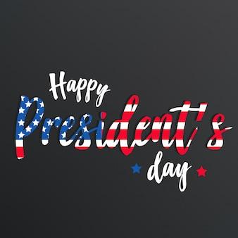 Fondo o insegna felice di giorno di presidente