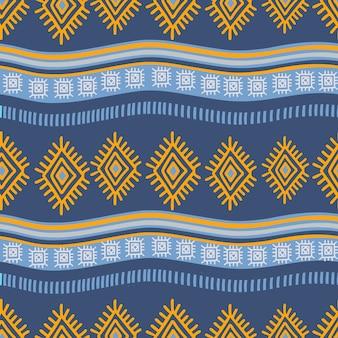 Fondo ornamentale del disegno del modello disegnato a mano azteco
