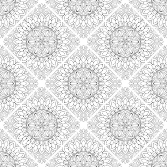 Fondo ornamentale di lusso del modello della mandala