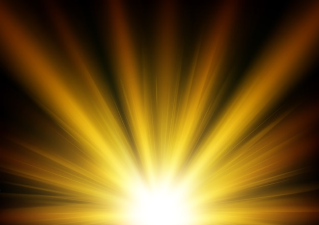 Fondo oro chiaro illuminato