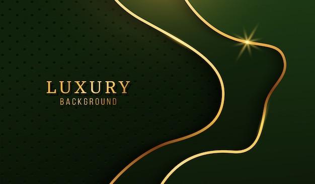 Fondo oro di lusso moderno, elementi di design astratto