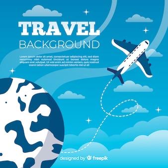 Fondo piano di viaggio aereo