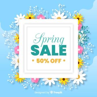 Fondo piatto di vendita di primavera