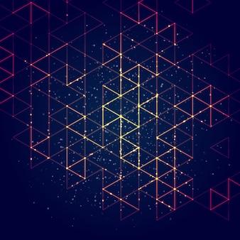 Fondo poligonale astratto di concetto di tecnologia.
