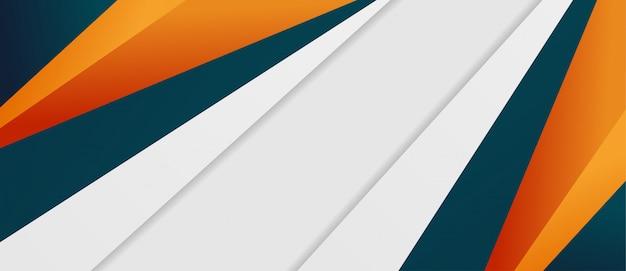 Fondo poligonale blu scuro ed arancio elegante astratto