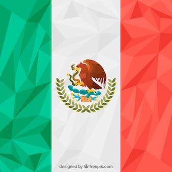 Fondo poligonale della bandiera messicana