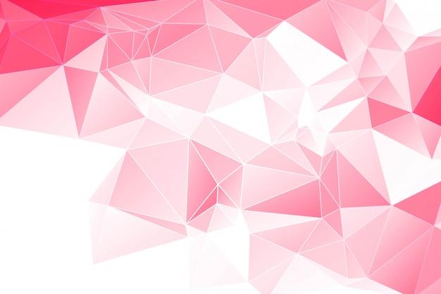 Fondo poligonale geometrico rosso astratto