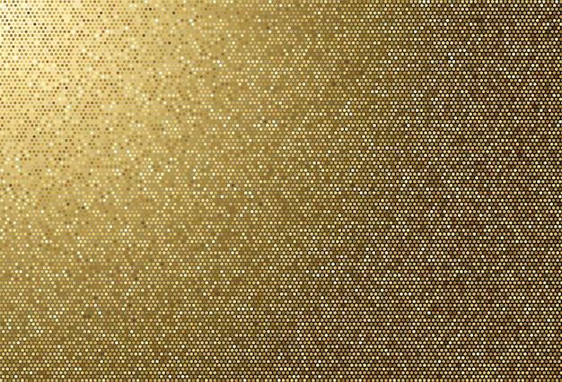 Fondo punteggiato dorato di struttura del tessuto astratto