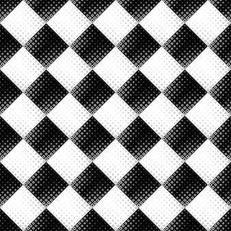 Fondo quadrato astratto senza cuciture in bianco e nero