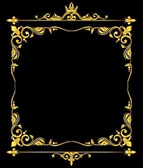 Fondo reale ornato dorato del fondo del giglio nero del lis