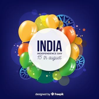 Fondo realistico di festa dell'indipendenza dell'india