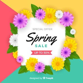 Fondo realistico di vendita di primavera