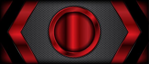 Fondo realistico metallico rosso astratto dell'insegna di struttura 3d