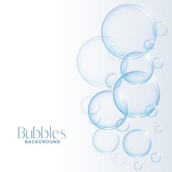 Fondo realistico realistico delle bolle di sapone o dell'acqua