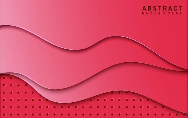 Fondo rosa astratto della melma del taglio della carta