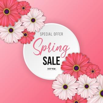 Fondo rosa di vendita di primavera