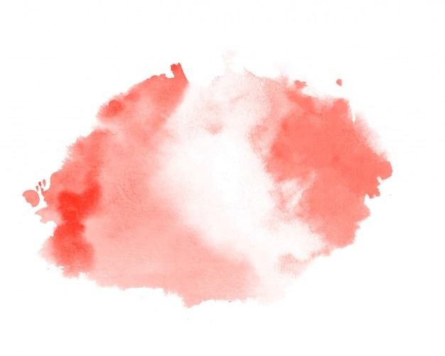 Fondo rosso astratto della macchia di struttura dell'acquerello di colore pastello