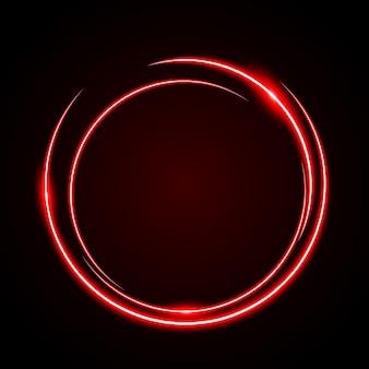 Fondo rosso-chiaro di vettore della struttura del cerchio astratto