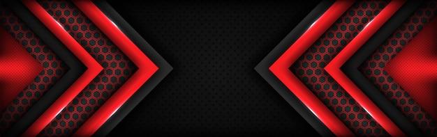 Fondo rosso e grigio scuro di tecnologia moderna con stile astratto