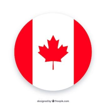 Fondo rotondo della bandiera canadese
