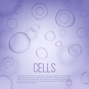 Fondo scientifico della medicina cellulare di biologia di vita.