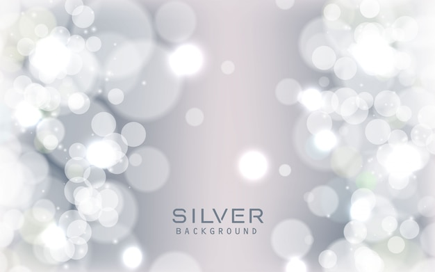 Fondo scintillante astratto d'argento delle luci